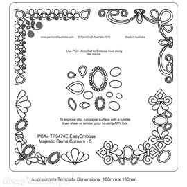 Template PCA gabarit traçage motifs cadre précieux