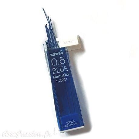 Mines bleu 0.5mm pour porte mine x20