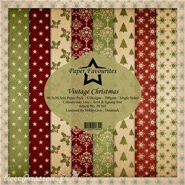 Papier scrapbooking assortiment Dixi Craft Paper Favourites Vintage Christmas 30x30 8fe