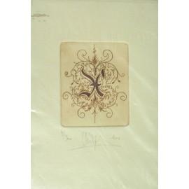 Gravure Caroline Delépine taille douce lettre X