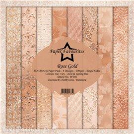 Papier scrapbooking assortiment Dixi Craft Paper Favourites Rose Gold 30x30 8fe