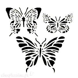 Pochoir plastique papillons 16x16cm