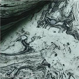 Papier népalais lokta gris marbré noir