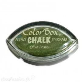 Encreur tampon Chalk oeil de chat olive pastel