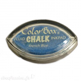 Encreur tampon Chalk oeil de chat french blue