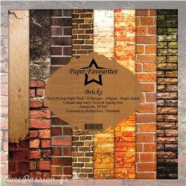 Papier scrapbooking assortiment Dixi Craft Paper Favourites Bricks 30x30 8fe