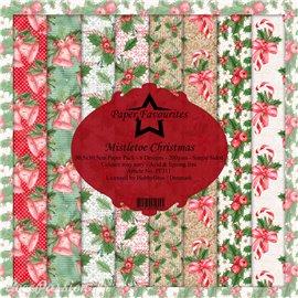 Papier scrapbooking assortiment Dixi Craft Paper Favourites Mistletoe Christmas 30x30 8fe