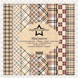 Papier scrapbooking assortiment Dixi Craft Paper Favourites Plaid Pattern 30x30 8fe