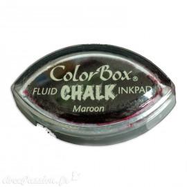 Encreur tampon Chalk oeil de chat maroon rouge