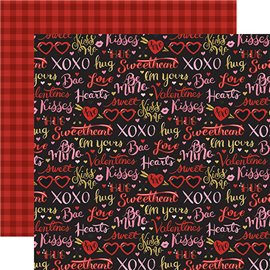 Papier scrapbooking assortiment echopark Be my Valentine 30x30 12fe