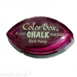 Encreur tampon Chalk oeil de chat dark peany Bordeaux