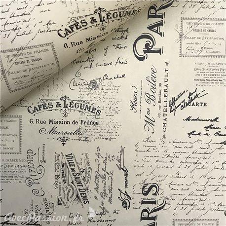 Papier italien motifs écritures Paris -