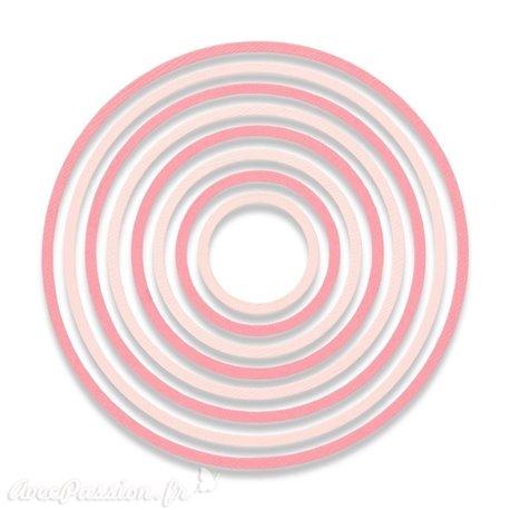 Dies Sizzix de découpe 8 cercles concentriques set Thinlits