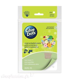 Glue Dots 252 Mini dots 5mm en plaque