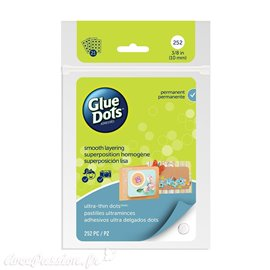 Glue Dots 252 Ultra mince dots 10mm en plaque