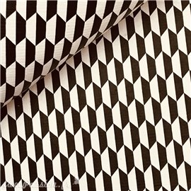 Papier à motifs illusion noir et blanc
