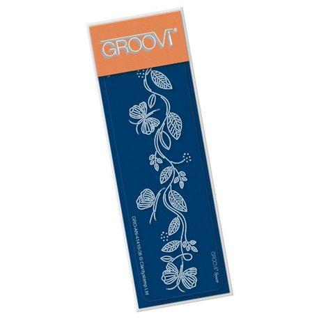 Groovi règle traçage parchemin bordures envolée de papillons