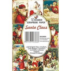 Etiquettes décoratives santa claus 24p