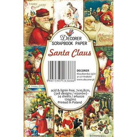 Etiquettes décoratives santa claus 24p