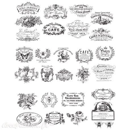 Transfert pelliculable Redesign Prima marketing décor Classic Vintage Labels