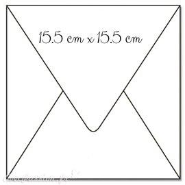 50 Enveloppes carré blanc 15.5x15.5cm