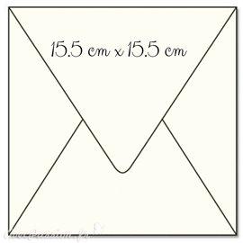 50 Enveloppes carré ivoire 15.5x15.5cm