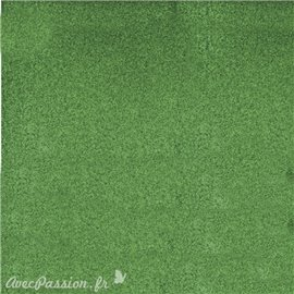Papier scrapbooking paillettes vert émeraude 30x30