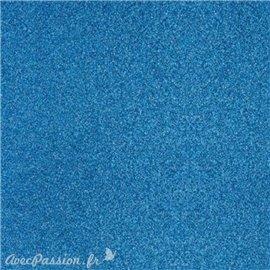 Papier scrapbooking paillettes bleu 30x30