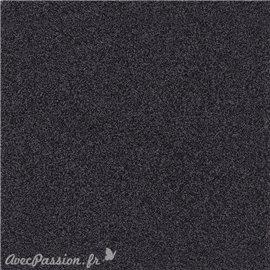 Papier scrapbooking paillettes noir 30x30