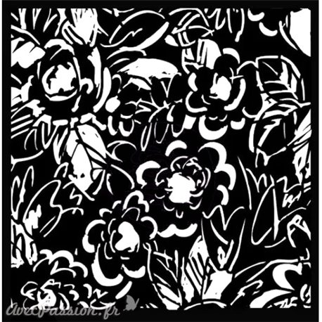 Pochoir décoratif Prima magnolias 15x15cm