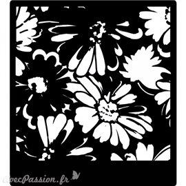 Pochoir décoratif Prima daisies 15x15cm