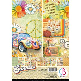Papier scrapbooking A4 assortiment Ciao Bella the Seventies 9fe
