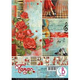 Papier scrapbooking A4 assortiment Ciao Bella Tango 9fe