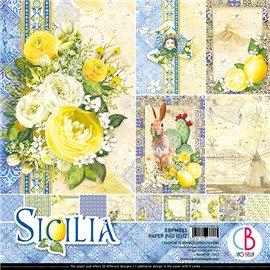 Papier scrapbooking assortiment Ciao Bella Sicilia 12fe 30x30