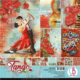 Papier scrapbooking assortiment Ciao Bella Tango 12fe 30x30