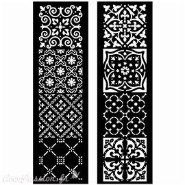 Pochoir décoratif géant Redesign Arabesque 15x67cm chaque qu2