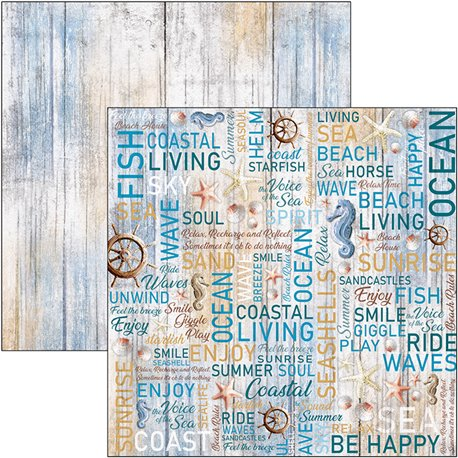 Papier scrapbooking réversible Ciao Bella the voice of the sea 30x30
