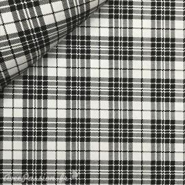 Papier à motifs tartan fond blanc écossais noir
