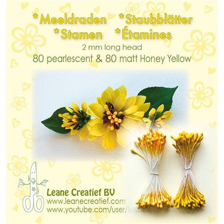 Pistils Etamines pour coeurs de fleurs jaune bouton d'or et mat 2mm