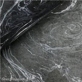 Papier népalais lokta noir marbré gris