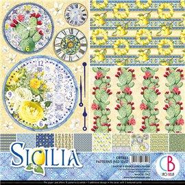 Papier scrapbooking assortiment Ciao Bella Sicilia 8fe 30x30