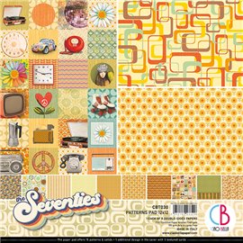 Papier scrapbooking assortiment Ciao Bella Seventies 8fe 30x30
