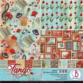 Papier scrapbooking assortiment Ciao Bella Tango 8fe 30x30