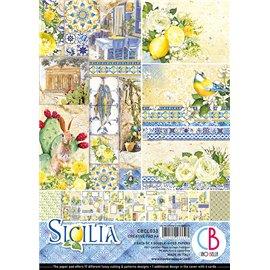 Papier scrapbooking A4 assortiment Ciao Bella Sicilia 9fe