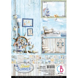 Papier scrapbooking A4 assortiment Ciao Bella The sound of summer 9fe