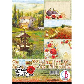 Papier scrapbooking A4 assortiment Ciao Bella Under the tuscan sun 9fe