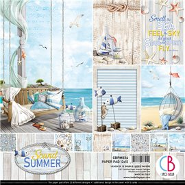 Papier scrapbooking assortiment Ciao Bella The sound of summer 12fe 30x30