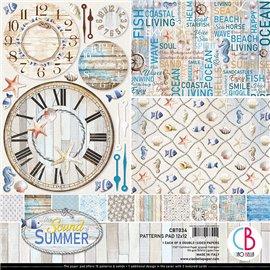Papier scrapbooking assortiment Ciao Bella The sound of summer 8fe 30x30