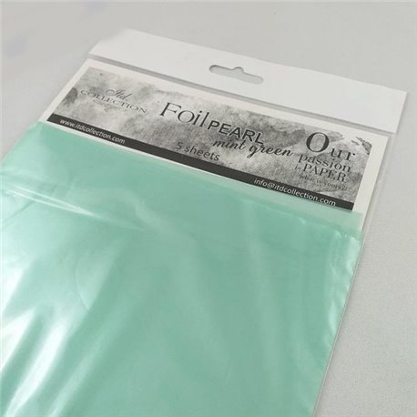 Foil Transfert nacré pour scrapbooking vert menthe x5