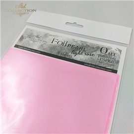 Foil Transfert nacré pour scrapbooking rose tendre x5
